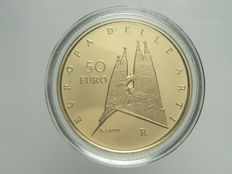Italy — 50 Euro 2007 'Europa delle Arti — Spagna' (Europe of the Arts — Spain) — gold
