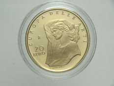 "Republic of Italy - 20 Euro, 2009 - ""Europa delle Arti - Inghilterra"" (""Europe of Arts - England"") - Gold"