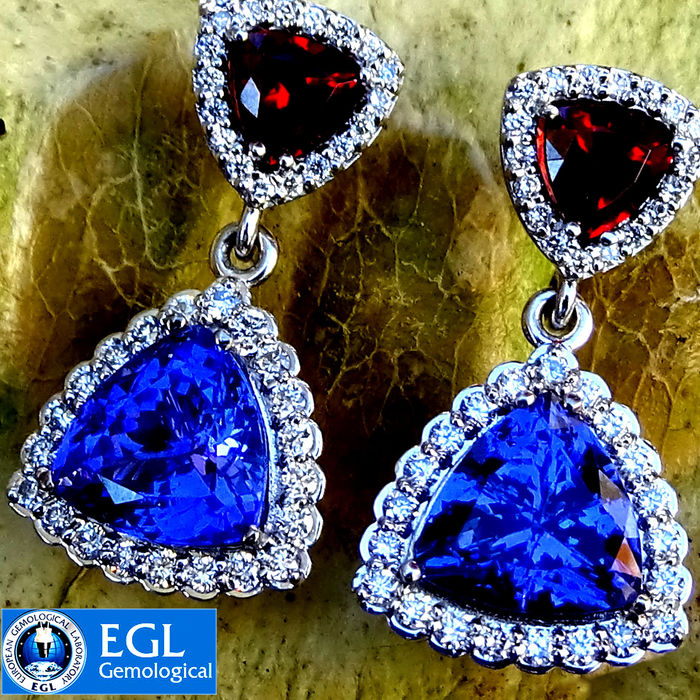 blue iobi cut feshionn stud topaz large earrings ice ct gems products precious trillion genuine