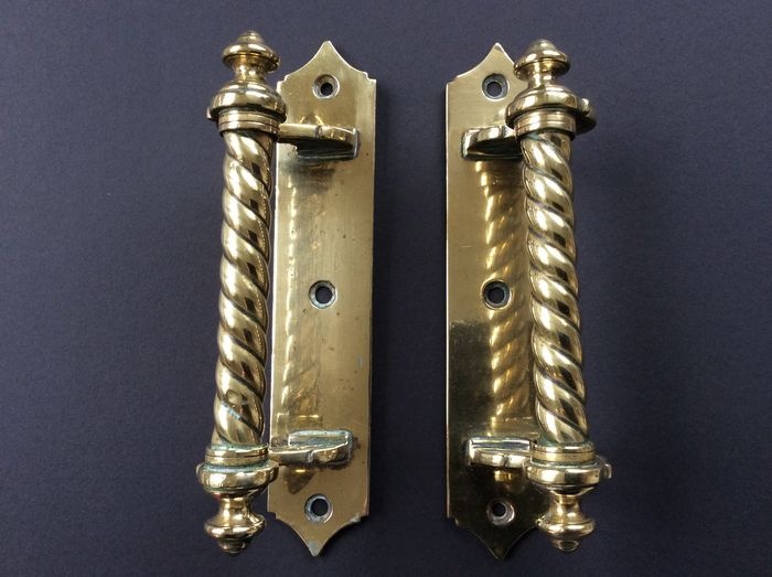 Two copper handles shop/conservatory/door - Catawiki