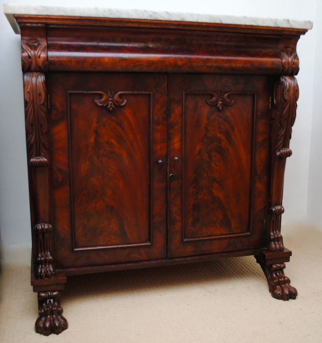 Rare Irish carved mahogany and marble chiffonier Circa 1820