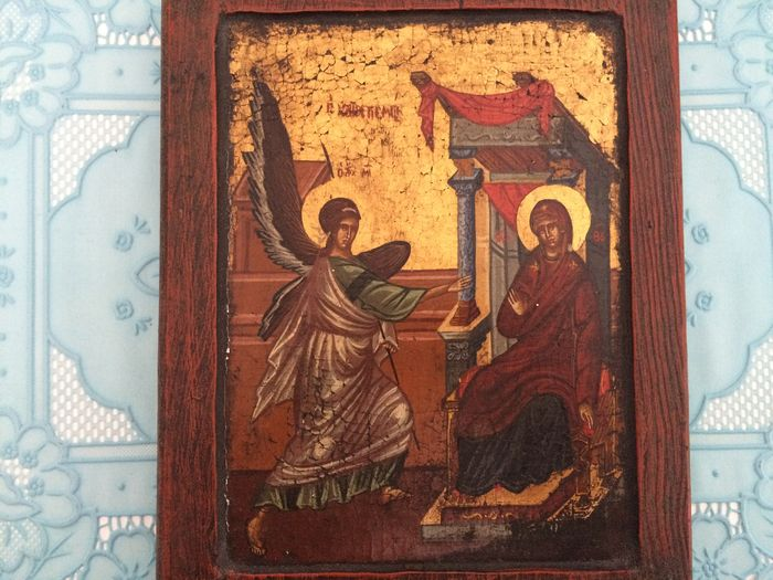 Annunciation ICON - The announcement of the Incarnation of Christ