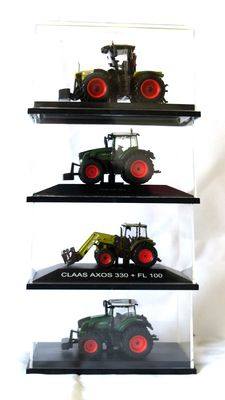 Schuco / Atlas - Scale 1/87-1/43 - Lot with 7 models: 4x agricultural vehicles, 2 x Porsche and 1 x Volvo