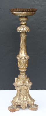 Wooden gold-plated candlestick - Italy - around 1820
