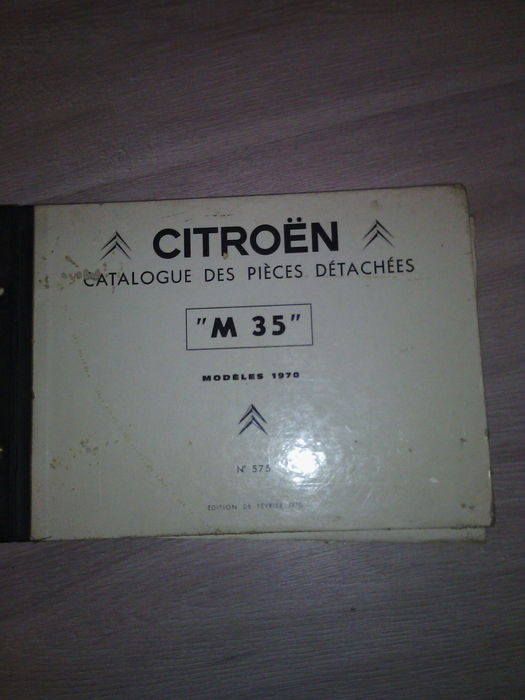 Citroën M35, prototype, rotary, bi-rotor, very rare spare parts catalogue, 1970
