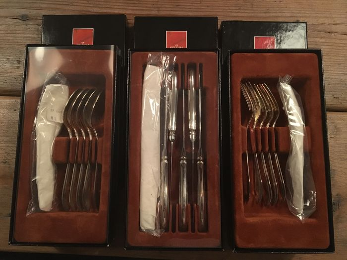 6 new dessert cutlery, Keltum Point-filet