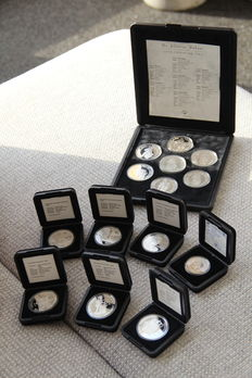 The Netherlands - Silver Ducats (10 pieces) and silver coins (4 pieces) - silver