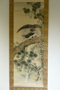 Scroll (Eagle), signed - Japan - Mid 20th century