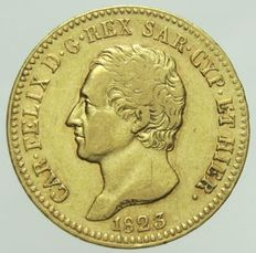 Kingdom of Sardinia – 20 lire 1823 King Carlo Felice uncommon – Gold