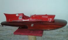 Well executed and finely detailed model from 1951, Timossi-Ferrari, racing hydroplane Arno XI 75 cm