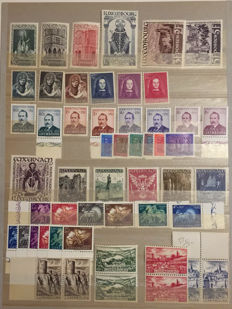 Luxembourg 1938/1954 - Selection of series and stamps