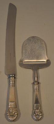 Cheese slicer and bread knife Olympia 644, Georg Nilsson for Gero, Denmark, 1923
