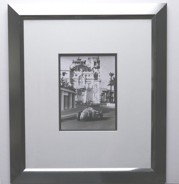 Louis Klemantaski Grand Prix Monaco1957 Ferrari framed photo