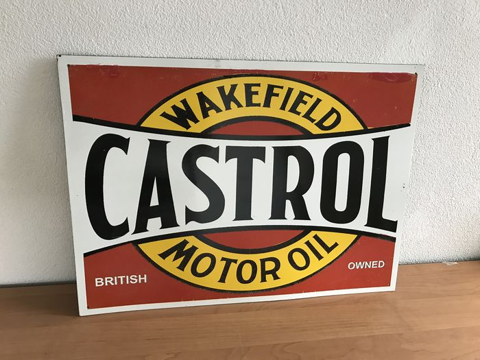 Castrol enamel sign.