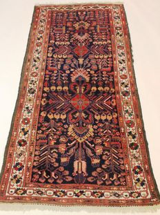 Old Jugendstil Persian carpet, US Lilian Sarough, 160 x 320 cm, made in Iran around 1910, fantastic highland wool