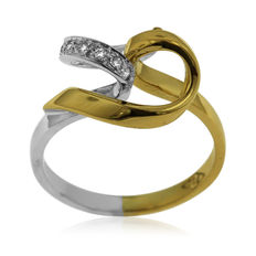 18kt White and Yellow Gold Diamond Fantasy Ring