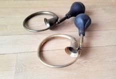 Pair of classic car horns / claxons