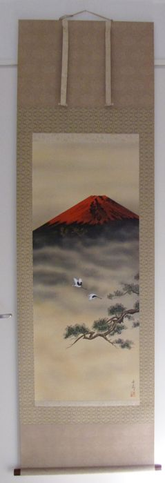 Hand painted silk painting - Japan - second half 20th century