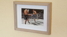 "Rico Verhoeven winner ""Dutch Fight of the Century"" 10.12.2016 - original autographed framed action photo + COA"