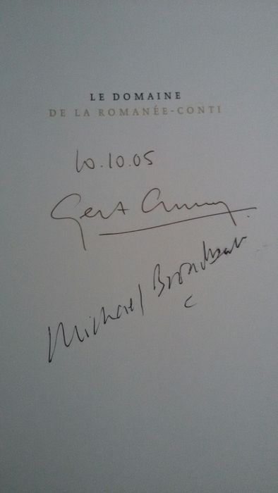 Signed copy of Le Domaine De La Romanee-Conti