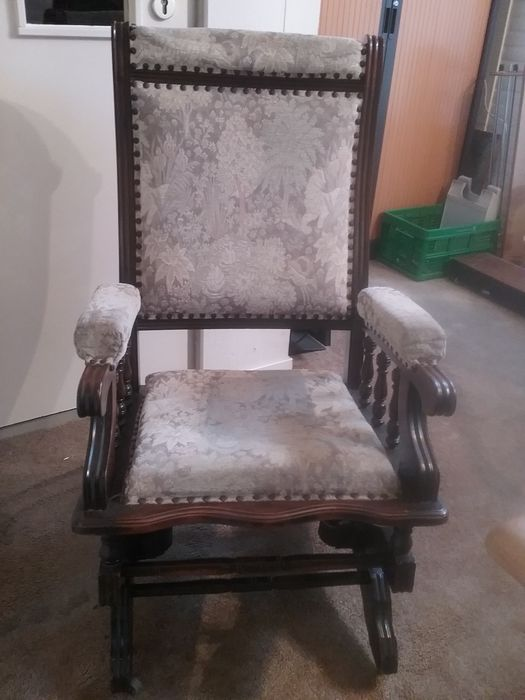 Antique rocking chair-rosewood-holland-first half of 20st century