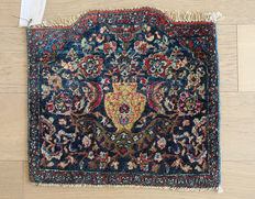 AUTHENTIC ANTIQUE  HAND-KNOTTED PERSIAN MAIDEN QUOM  41x45cm  Wool&Silk