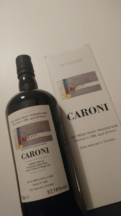 Caroni 20 yo 1996-2016 Heavy Proof 57.18%