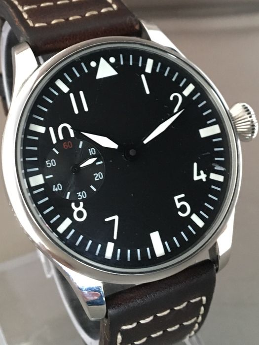 Pilot open back - Men's wristwatch - 21st century