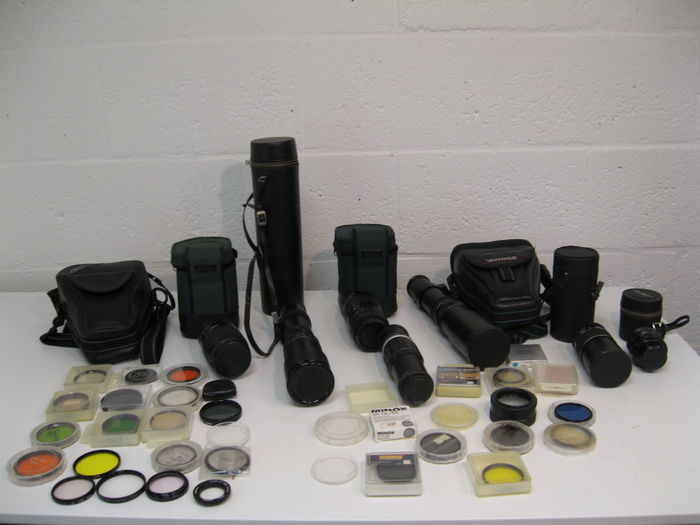 7 lenses, different brands