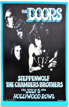Psychedelic USA The Doors/ Steppenwolf Concert Poster 1968
