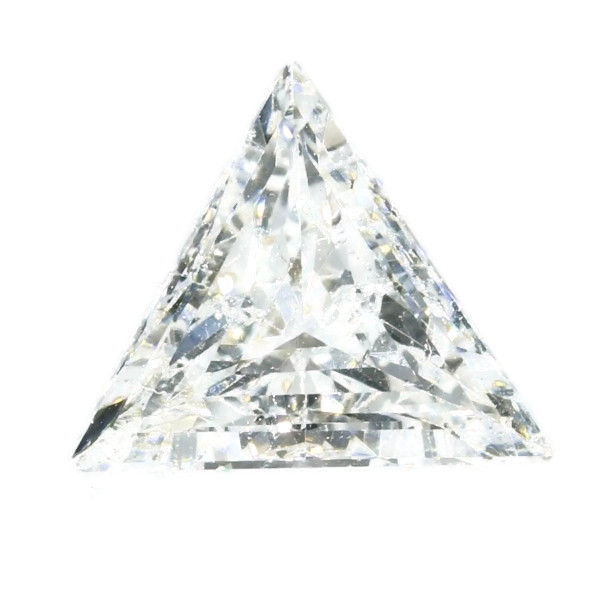 0.72 ct triangular cut diamond E SI1