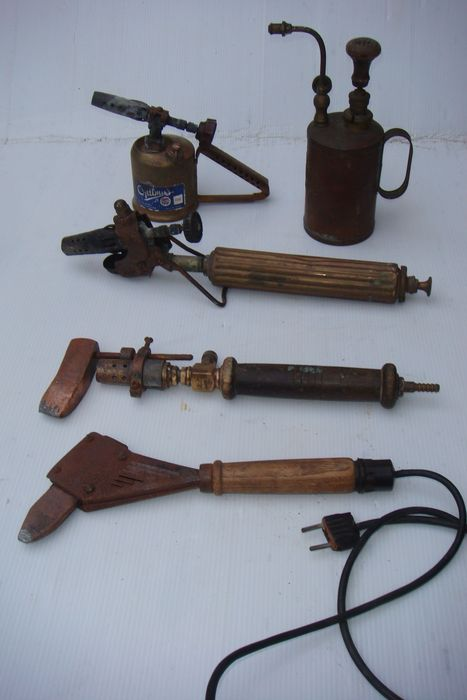 Lot of 5 copper burners and soldering devices