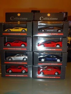 Shell - Scale 1/18-1/38 - Lot of 19 models: 11 x Ferrari and 8 x not Ferrari