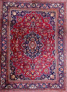Persian carpet Meshad signed (Naderi), 340 x 260 cm; no reserve price, bidding starts from €1.-