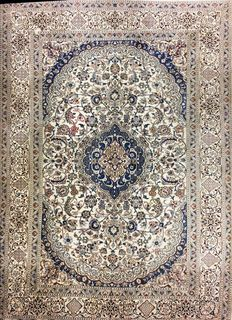 Persian carpet, Nain 9 la with silk, 355 x 245 cm;