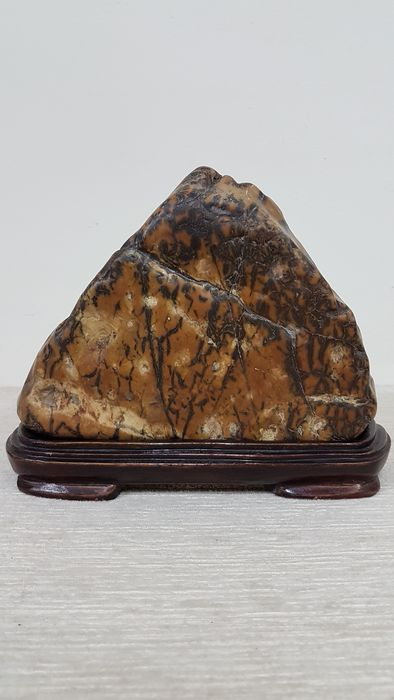 "A ""Green mountain"" stone - China - late 20th century"