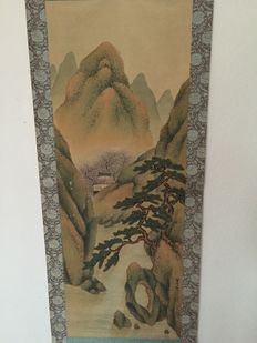 Scroll painting landscape scenery-Japan - late 19th century