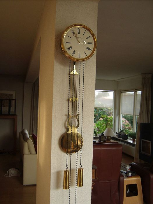Wall clock comtoise model - Jaques Almar - 70s period
