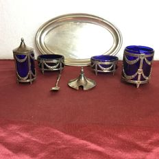 Full set in silver - Italy - 20th century