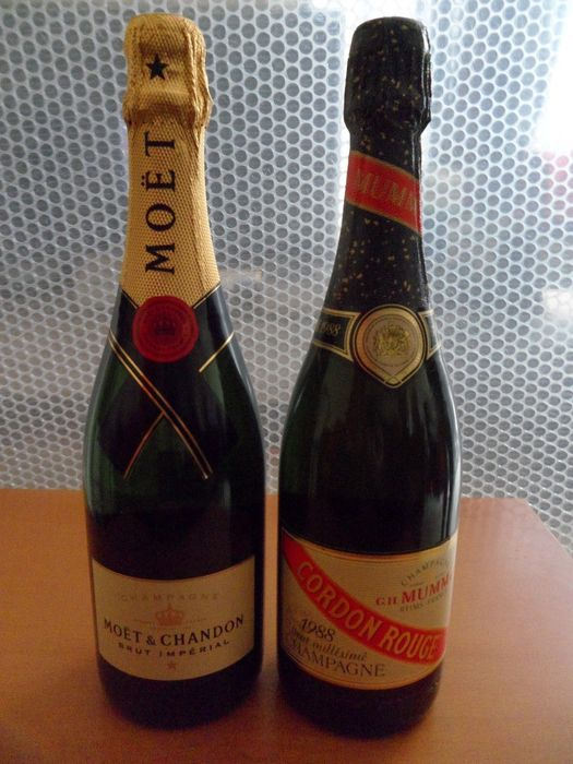 1988 Champagne Mumm Cordon Rouge Brut Rare and Champagne Moët et Chandon Brut Imperial - 2 bottles