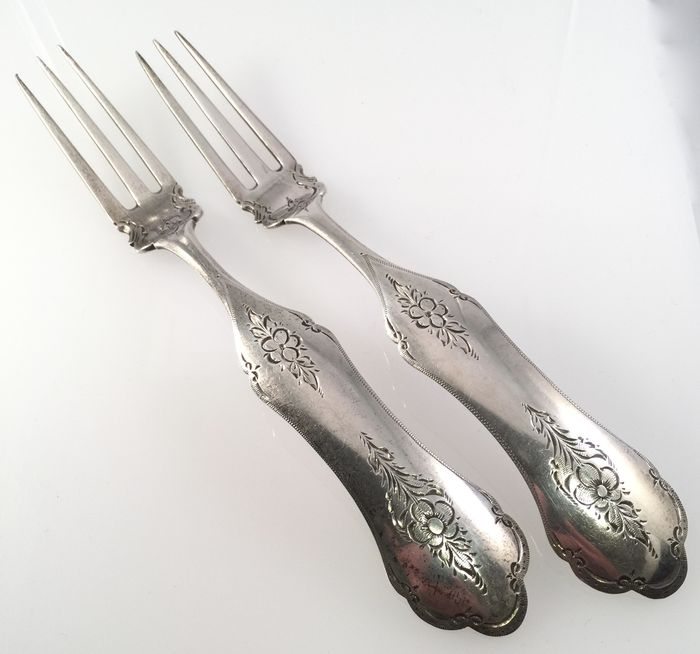 Netherlands - two silver forks 1873
