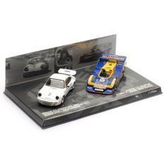 Minichamps - Scale 1/43 - Lot with 2 models: Porsche 911 and Porsche 917 - Tribute To Mark Donohue La Times GP Riverside 1973