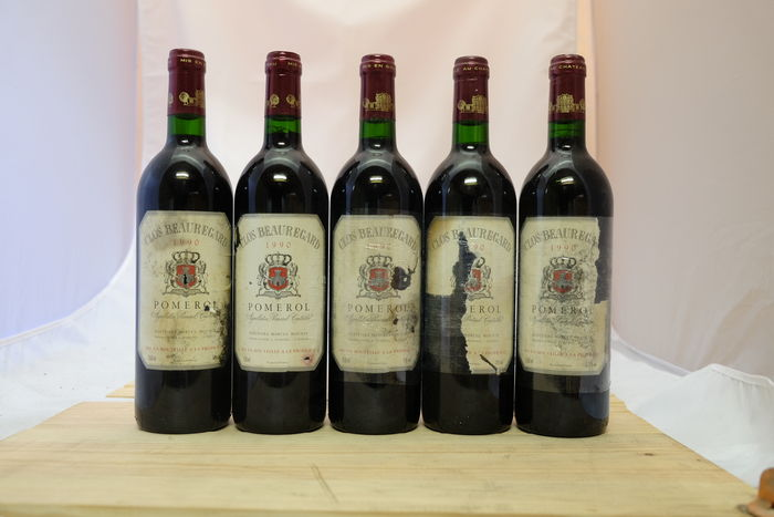1990 Clos Beauregard, Pomerol, France - 5 bottles.