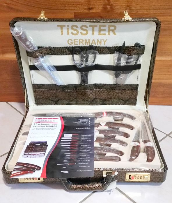 tisster chef case with high quality 25 piece knife set catawiki. Black Bedroom Furniture Sets. Home Design Ideas
