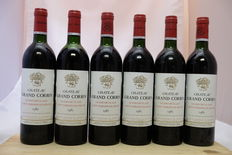 1985 Chateau Grand Corbin, Saint-Emilion Grand Cru Classe, France, 6 flessen.