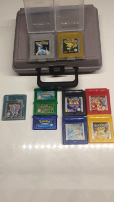 Lot of 10 Pokemon games for Game Boy series