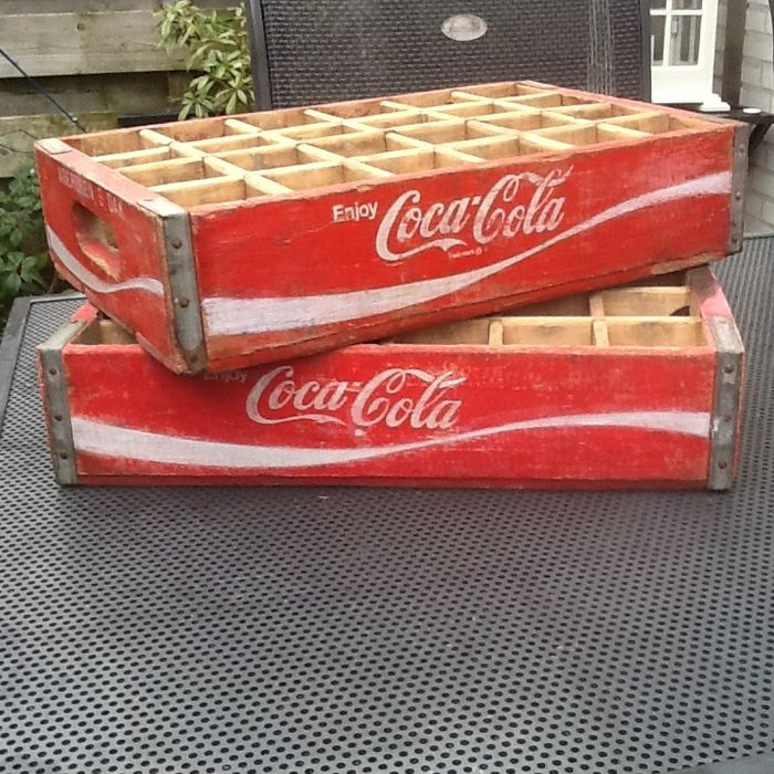 Two beautiful American Coca Cola crates.