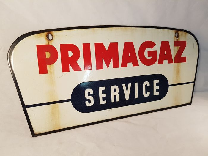 enamel sign primagaz service double sided 1950 catawiki. Black Bedroom Furniture Sets. Home Design Ideas