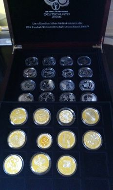International - collection of various coins'FIFA football world championship Germany 2006' (27 coins) -silver