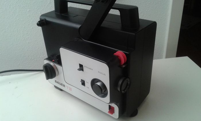 Bauer t2 film projector films and hama mirror catawiki for Mirror projector review